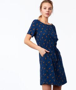 Printed dress ink blue.