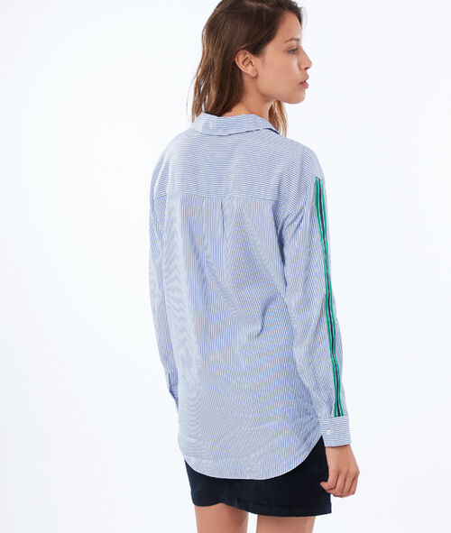 Blouse with side stripes