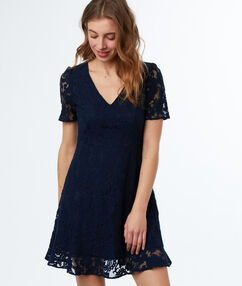 Lace dress navy blue.