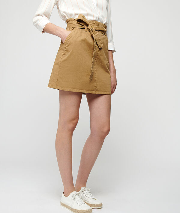 Mini skirt with tie detail