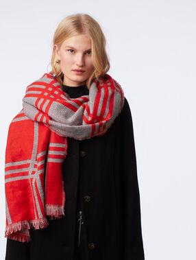 Check scarf poppy.