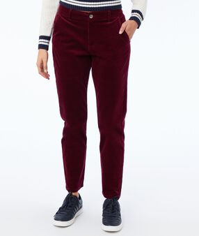 Velvet trousers 7/8 anemone.