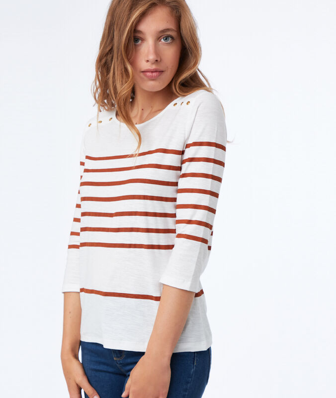 Breton top in cotton barley.