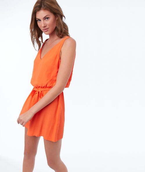 Playsuit with back neckline
