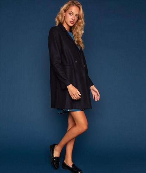 Abrigo oversize de lana