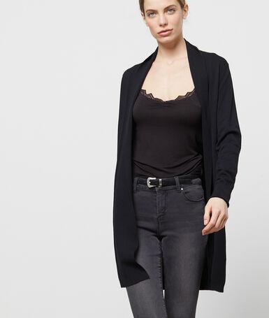 Long cardigan black.