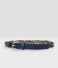 Braided belt navy blue.
