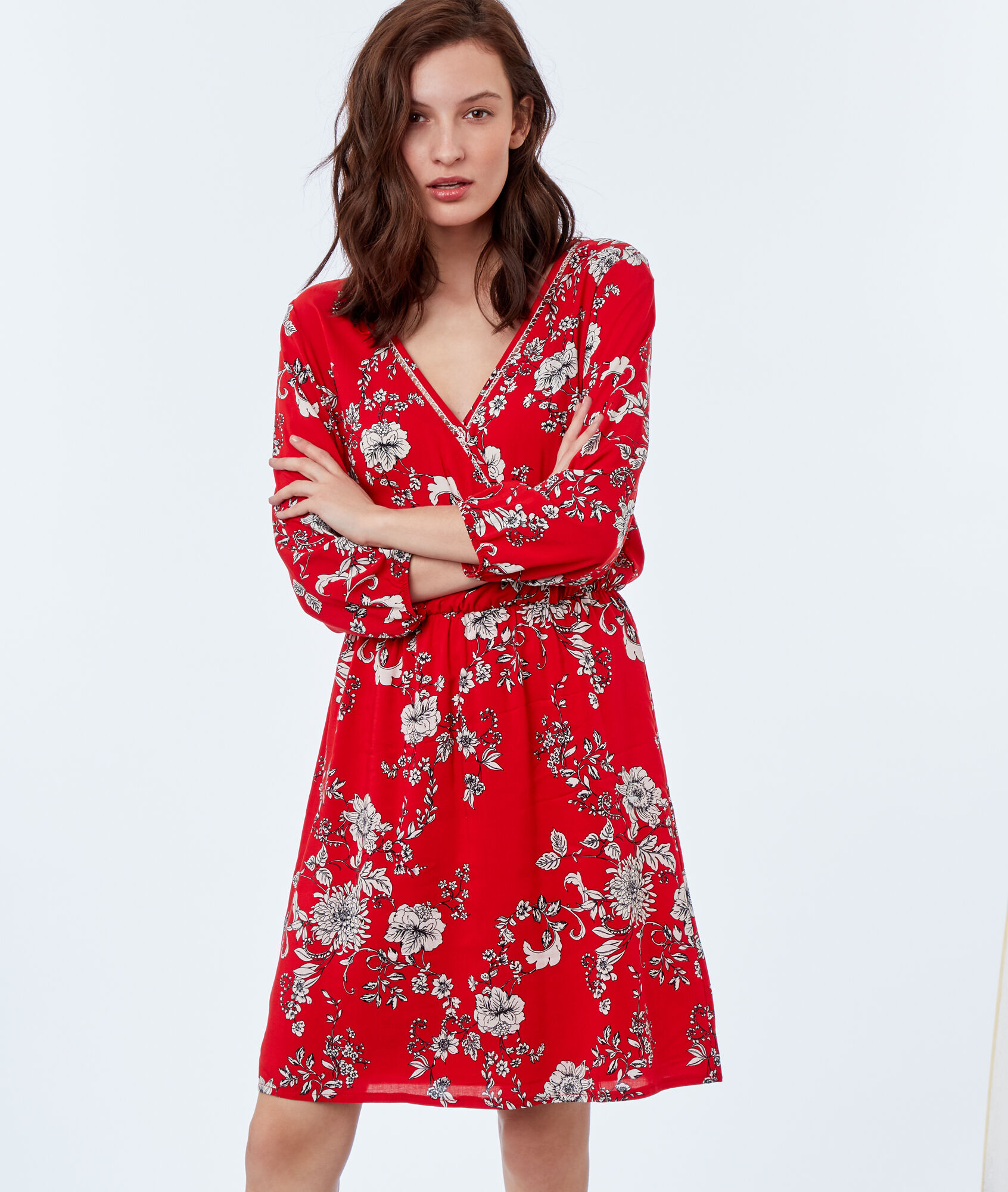 Robe bordeau etam
