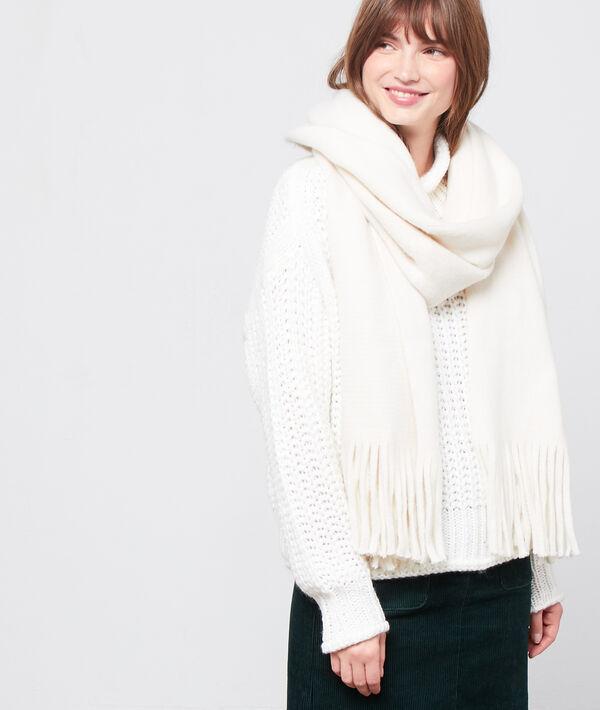 Fringed plain scarf