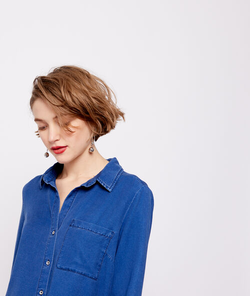 Tencel® denim look shirt