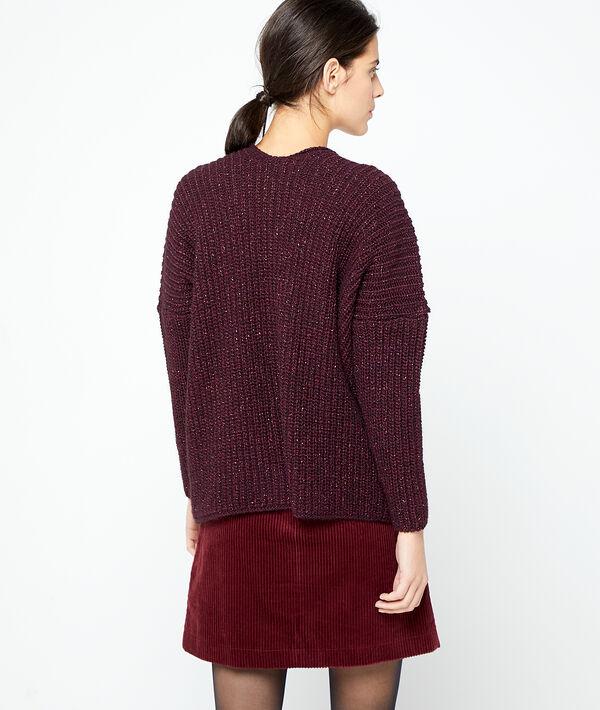 Italian jumper in metallic threads