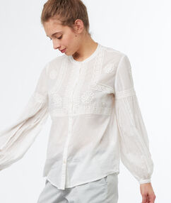 Puff sleeve blouse off-white.