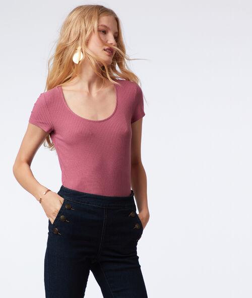 Ribbed tee-shirt