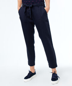 Pants navy blue.