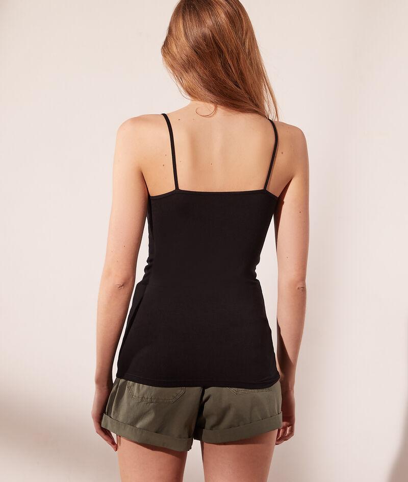 Guipure low cut vest