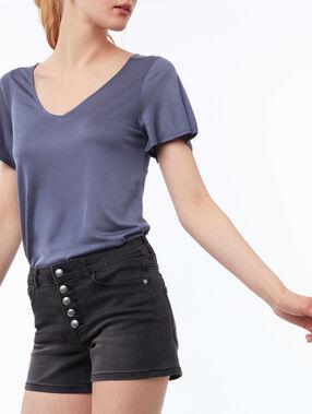 Button-up shorts black.