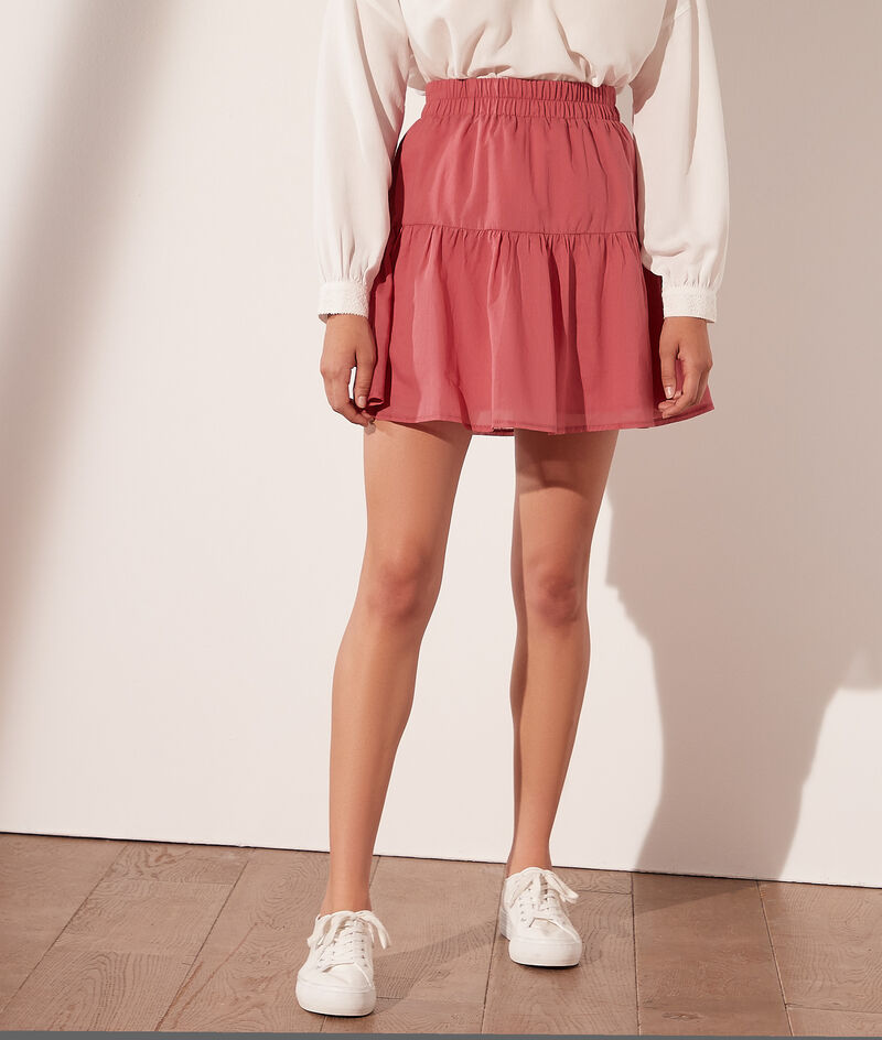 Cotton frill short skirt