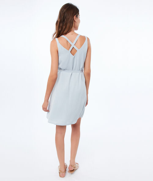 Dress with back neckline