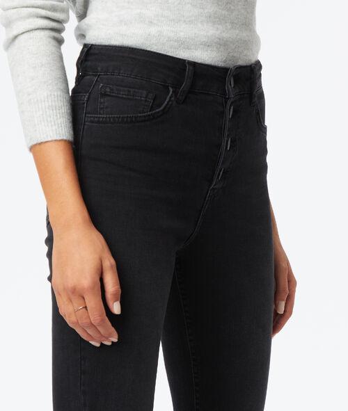 Button skinny jean