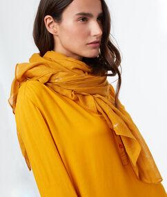 Printed scarf ochre.