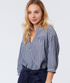 Striped blouse navy blue.
