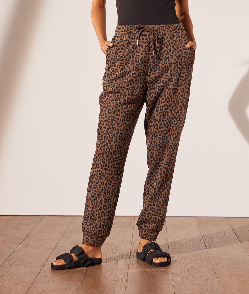Leopard print jogging bottoms