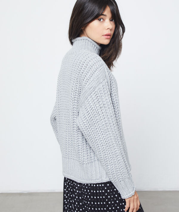 Maxi knit turtleneck jumper