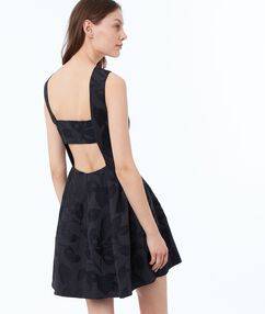 Printed dress black.