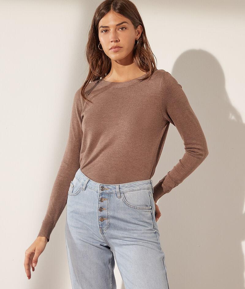Boat-neck jumper