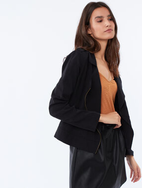 Tencel® zipped jacket black.
