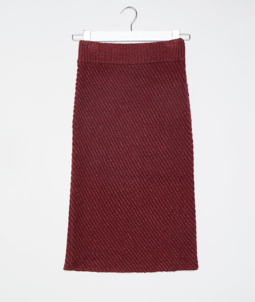 Pencil skirt in maxi knit