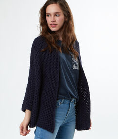 Knitted cardigan navy blue.