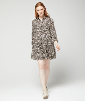 Robe imprimé léopard beige.