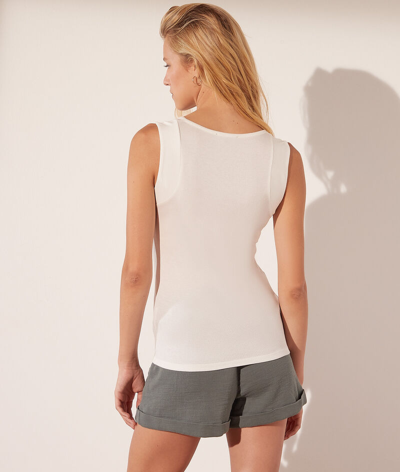 Tank top with press studs