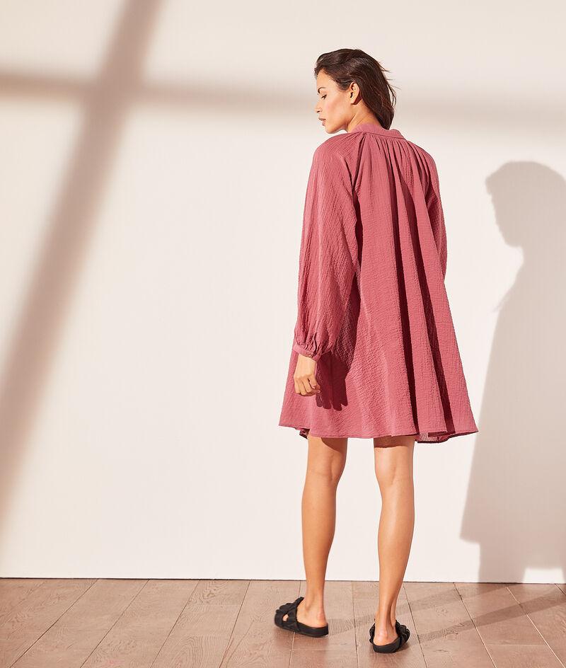 Cotton gauze shirt dress