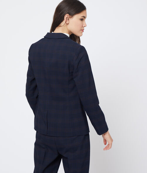 Suit jacket in check