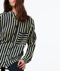 Striped shirt navy blue.