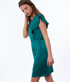 Plain fitted dress emerald green.
