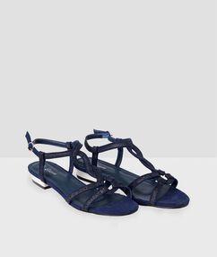 Sandals navy blue.