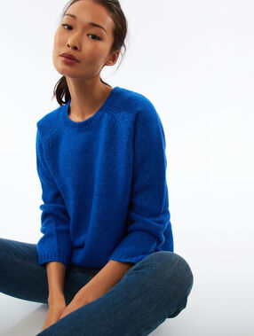 Cable knit jumper blue.