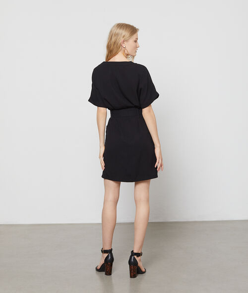 Tencel® belted dress