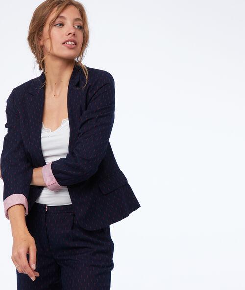 Patterned suit jacket