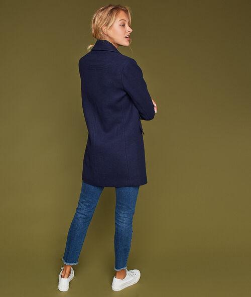 Three quarter length coat with pockets