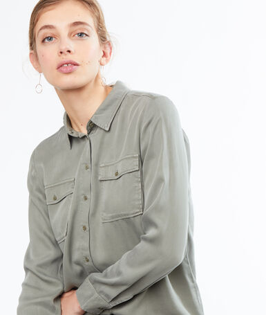 Shirt with pocket khaki.