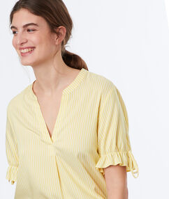 Striped top yellow.