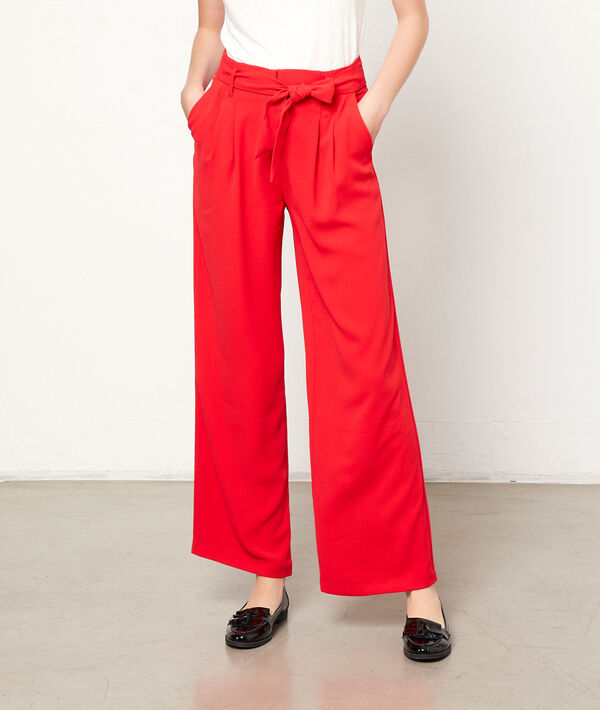 Wide leg trousers to tie