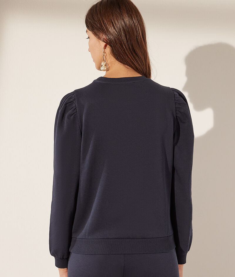 Balloon-sleeved sweater