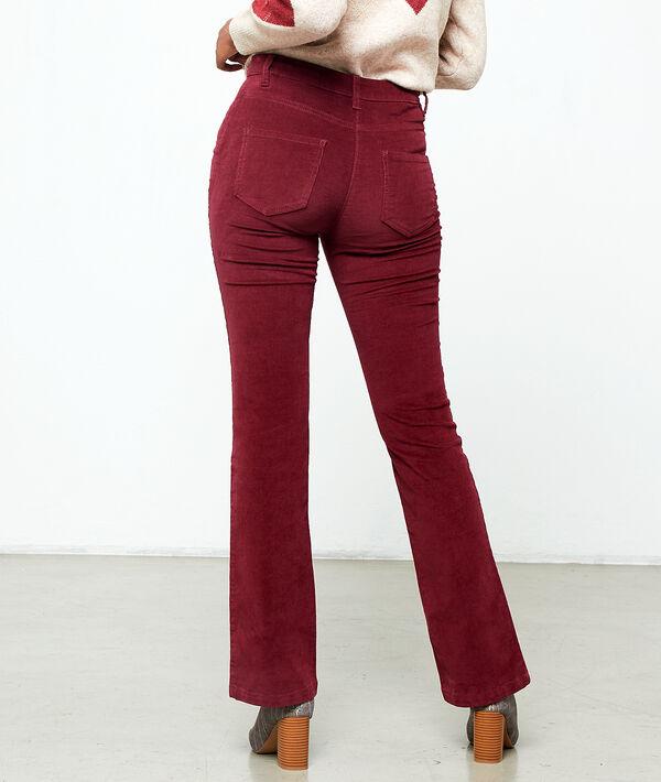 Flare trousers in velvet look