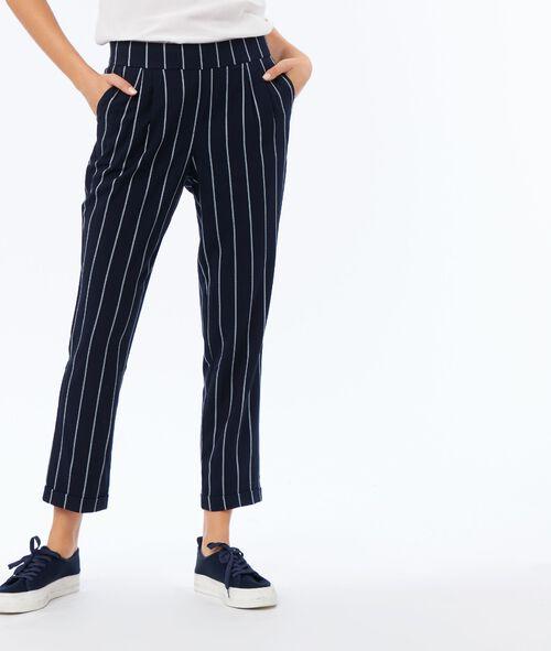 Striped carrot pants