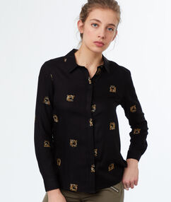Printed shirt black.
